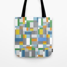 Grey Orange Map Tote Bag