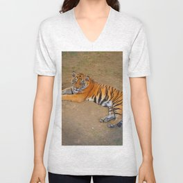 The Gaze of a Tiger Unisex V-Neck