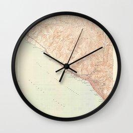Laguna Beach, CA from 1949 Vintage Map - High Quality Wall Clock