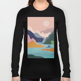 River Canyon Kayaking Long Sleeve T-shirt