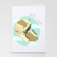 aang Stationery Cards featuring Appa - Avatar the legendo of Aang by Manfred Maroto