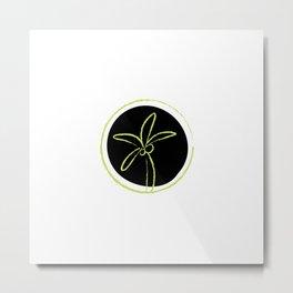 black green palm tree Metal Print