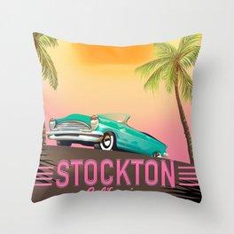 Stockton California USA Throw Pillow