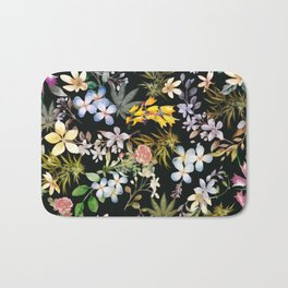 Flowers with Hidden Pot Leaves Bath Mat