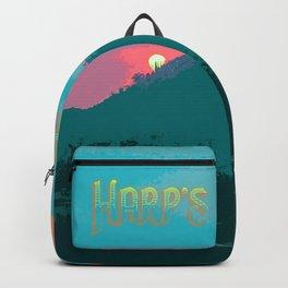 Harp's Hikes Sunset Logo Backpack