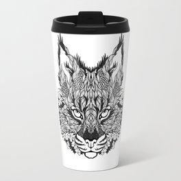 LYNX head. psychedelic / zentangle style Travel Mug