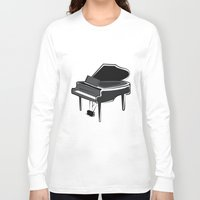piano Long Sleeve T-shirts featuring Piano by shopaholic chick
