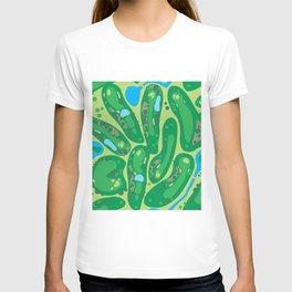 golf course par golf course green T-shirt
