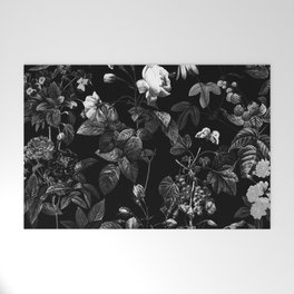 DARK FLOWER Welcome Mat