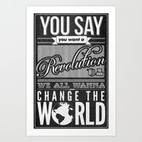 revolution Art Prints featuring Revolution.  by Creation Factory