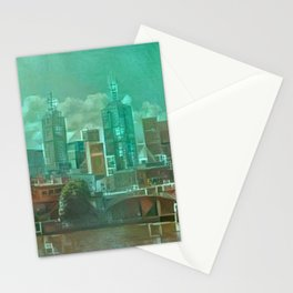 Melbourne Waterfront Abstract Stationery Cards