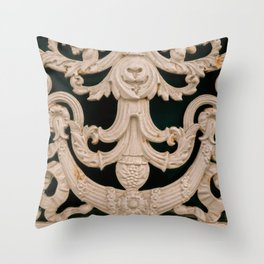 Architectural window details in Brussels Belgium Throw Pillow