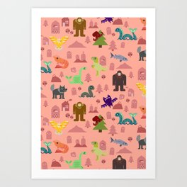 Cryptids of the PNW Art Print