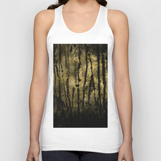 Black and Gold grunge modern abstract ink backround Unisex Tank Top