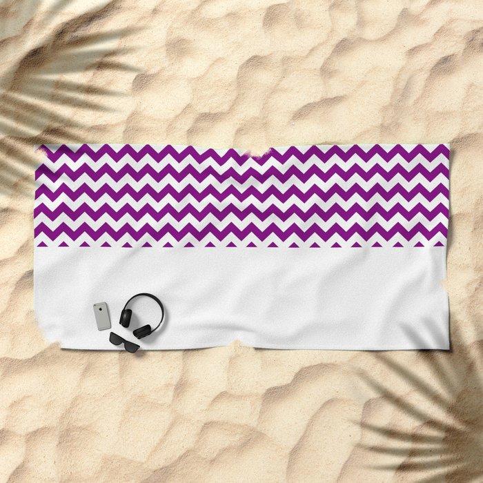 Chevron (Purple/White) Beach Towel