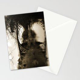 Worlds First Ironbridge over River Severn in England in sepia Stationery Cards