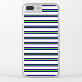 Nautical Stripes Clear iPhone Case