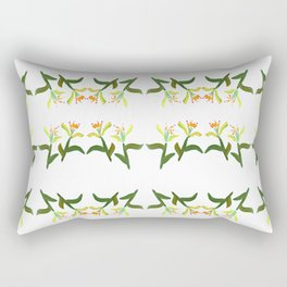 Fan's Pattern design- 2018 New Year Flower Rectangular Pillow