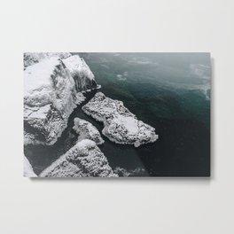 Frozen on the Lake Metal Print