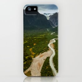 New Zealand - Flying through the Fox Glacier valley iPhone Case