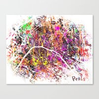 paris Canvas Prints featuring Paris by Nicksman
