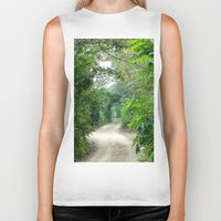 cape cod Biker Tanks featuring Lover's Arch, Cape Cod by JezRebelle