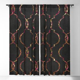 Vintage Chic New York Flat Blackout Curtain
