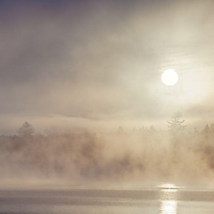 rising mist Duvet Cover