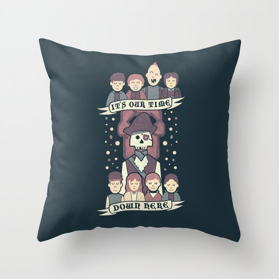 Down Here Throw Pillow