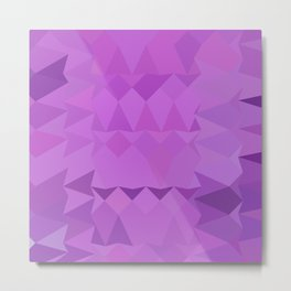 Bright Lavender Abstract Low Polygon Background Metal Print