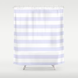 Light Lavender & White Stripe Pattern Shower Curtain