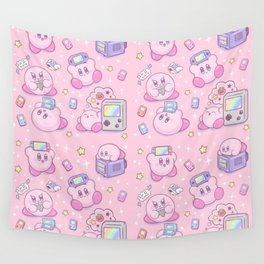 Kirby Gamer Wall Tapestry