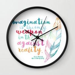 Alice In Wonderland | Quote 1 Wall Clock