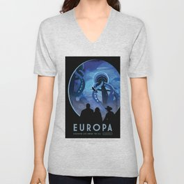 NASA Visions of the Future - Europa: Discover Life Under the Ice Unisex V-Neck