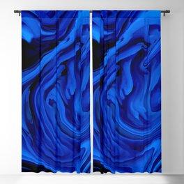 Blue Liquid Marbled texture Blackout Curtain