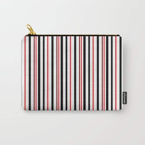 Red, black white striped pattern . Carry-All Pouch
