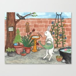 Rabbit's Garden Canvas Print