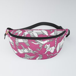 origami animal ditsy pink Fanny Pack
