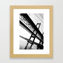 a bridge over troubled waters Framed Art Print
