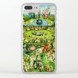 The Garden of Earthly Delights Triptych by Hieronymus Bosch Clear iPhone Case
