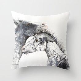 Appaloosa Horse Foals Throw Pillow