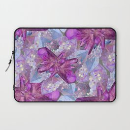 PURPLE AMETHYST & QUARTZ CRYSTALS FEBRUARY GEMS Laptop Sleeve
