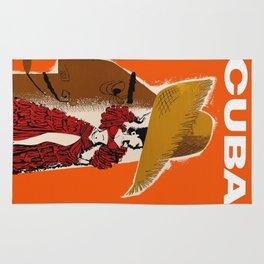 Vintage Travel Ad Cuba Rug