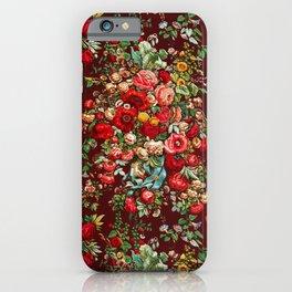 Vintage Red Floral iPhone Case
