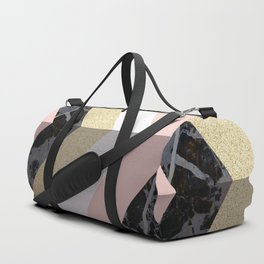 Chevron Pattern 1. Marble and Glitter #decor #buyart Duffle Bag