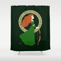 merida Shower Curtains featuring Merida  by Cantabile