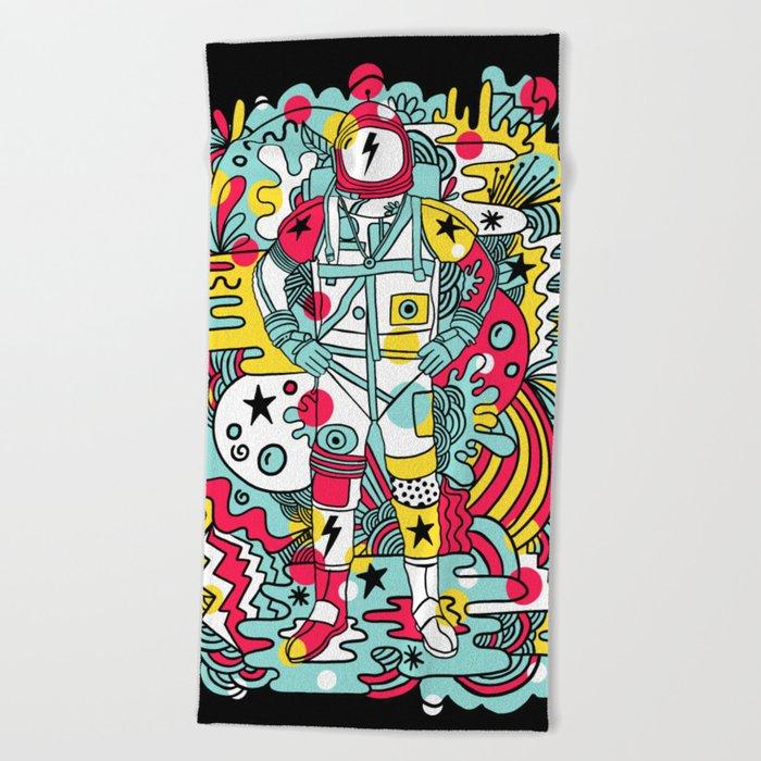 Moonage Daydream Beach Towel