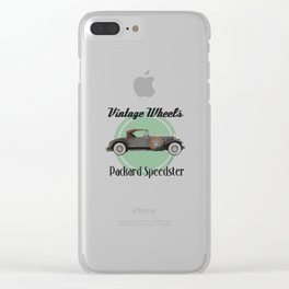 Vintage Wheels - Packard Boattail Speedster Clear iPhone Case