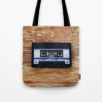 cassette Tote Bags featuring Cassette by Coconut Living