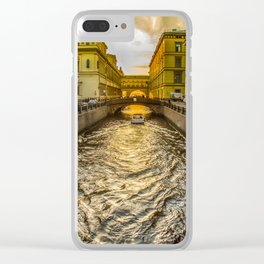 Swan Canal in St. Petersburg Clear iPhone Case